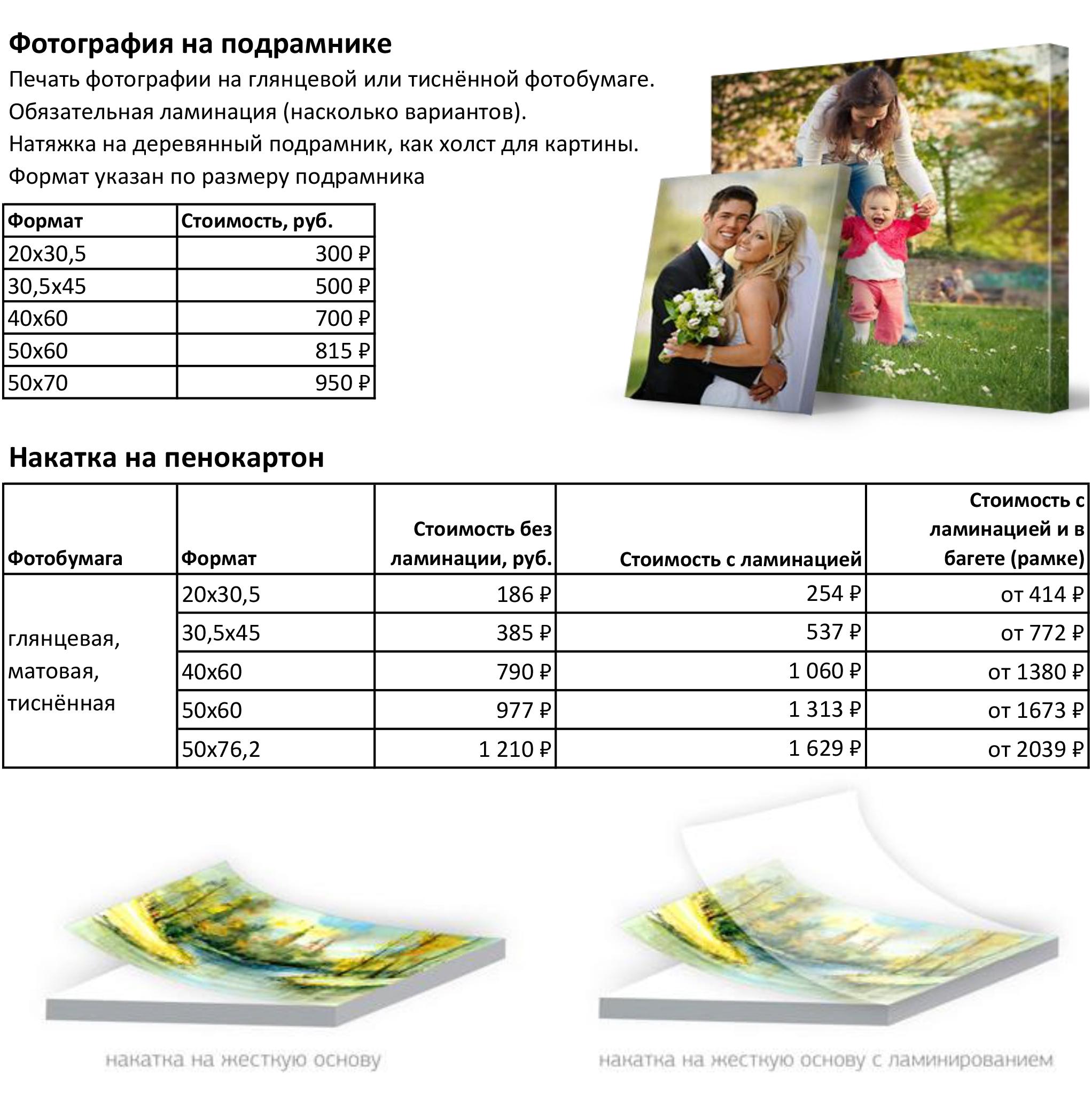 http://artphotolab.ru/wp-content/uploads/2017/11/Прайс Фото на подрамнике и накатка на пенокартон